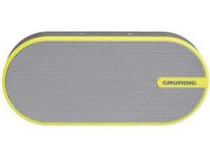 GRUNDIG GSB 150, Bluetooth Lautsprecher, Ausgangsleistung 6 Watt, Grau/Gelb