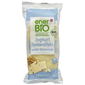 enerBiO Joghurt Reiswaffeln weiße Schokolade
