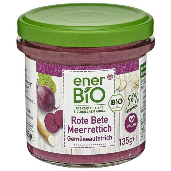 enerBiO Gemüseaufstrich Rote Bete Meerrettich 135g 1.10 EUR/100 g