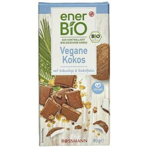 enerBiO Vegane Kokos mit Kokoschips & Dinkelflakes 2.11 EUR/100 g