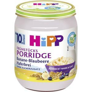 HiPP Bio Frühstücksporridge Banane-Blaubeere Haferbrei 0.43 EUR/100 g (6 x 160.00g)