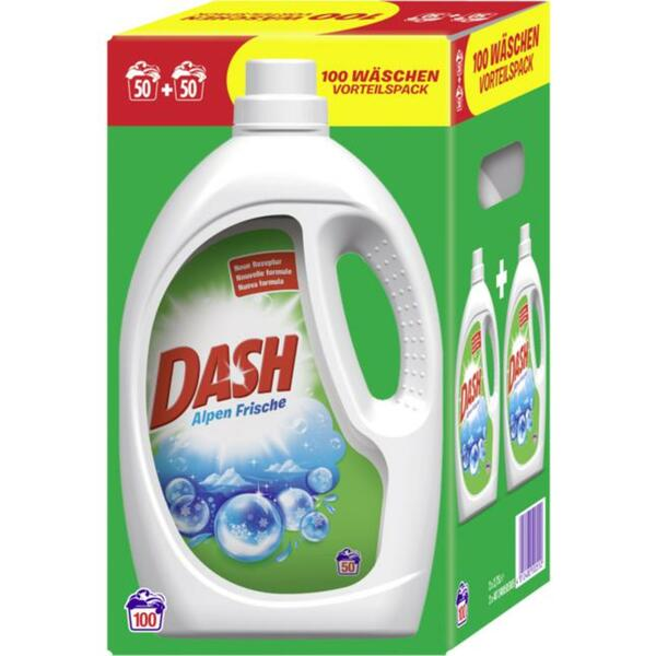 Dash Vollwaschmittel Alpen Frische Flüssig 100 WL/ 2 x 2 0.10 EUR/1 WL