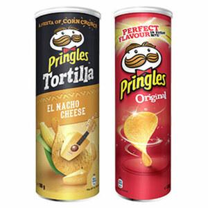 Pringles oder Tortilla Chips versch. Sorten, jede 200/180-g-Dose