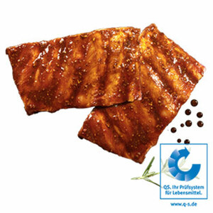 Frische Grillribs vom Schwein, grillfertig mariniert, je 1 kg