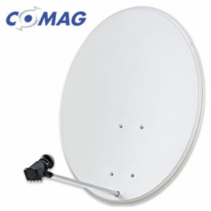 Sat-Schüssel K8041 80-cm-Spiegel, HD-tauglich, inkl. Universal-Quad-LNB und Masthalterung