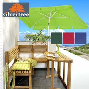 Sonnenschirm Louis Maße: ca. 180 x 120 cm, Polyesterbespannung, mit Knickvorrichtung, Lichtschutzfaktor: UPF 50+