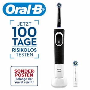 Zahnbürste Vitality eBrush • 2D-Putzsystem • 2-min-Timer (von Zahnärzten empfohlen) • inkl. 2 Aufsteckbürsten