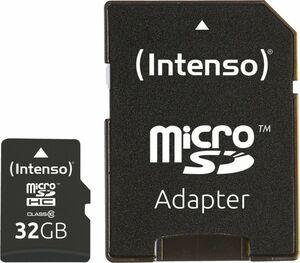 Intenso Micro SD Card 32GB Class 10 inkl. SD Adapter