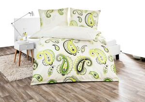 "Dreamtex Renforcé Bettwäsche ""ultra modern"", ca. 135 x 200 cm, Green Paisley"
