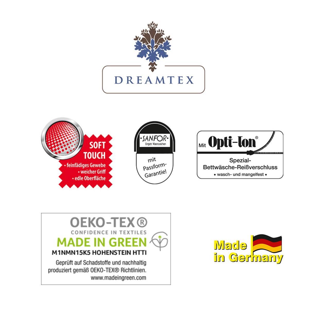"""Bild 2 von Dreamtex Renforcé Bettwäsche """"ultra modern"""", ca. 135 x 200 cm, Green Paisley"""