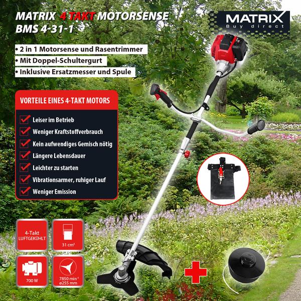 Matrix 4-Takt-Benzin-Sense und -Trimmer BMS 4-31-1