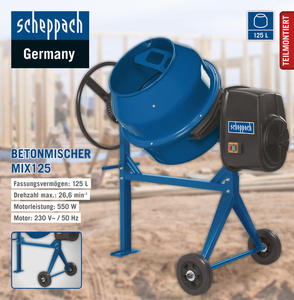Scheppach Betonmischer MIX125
