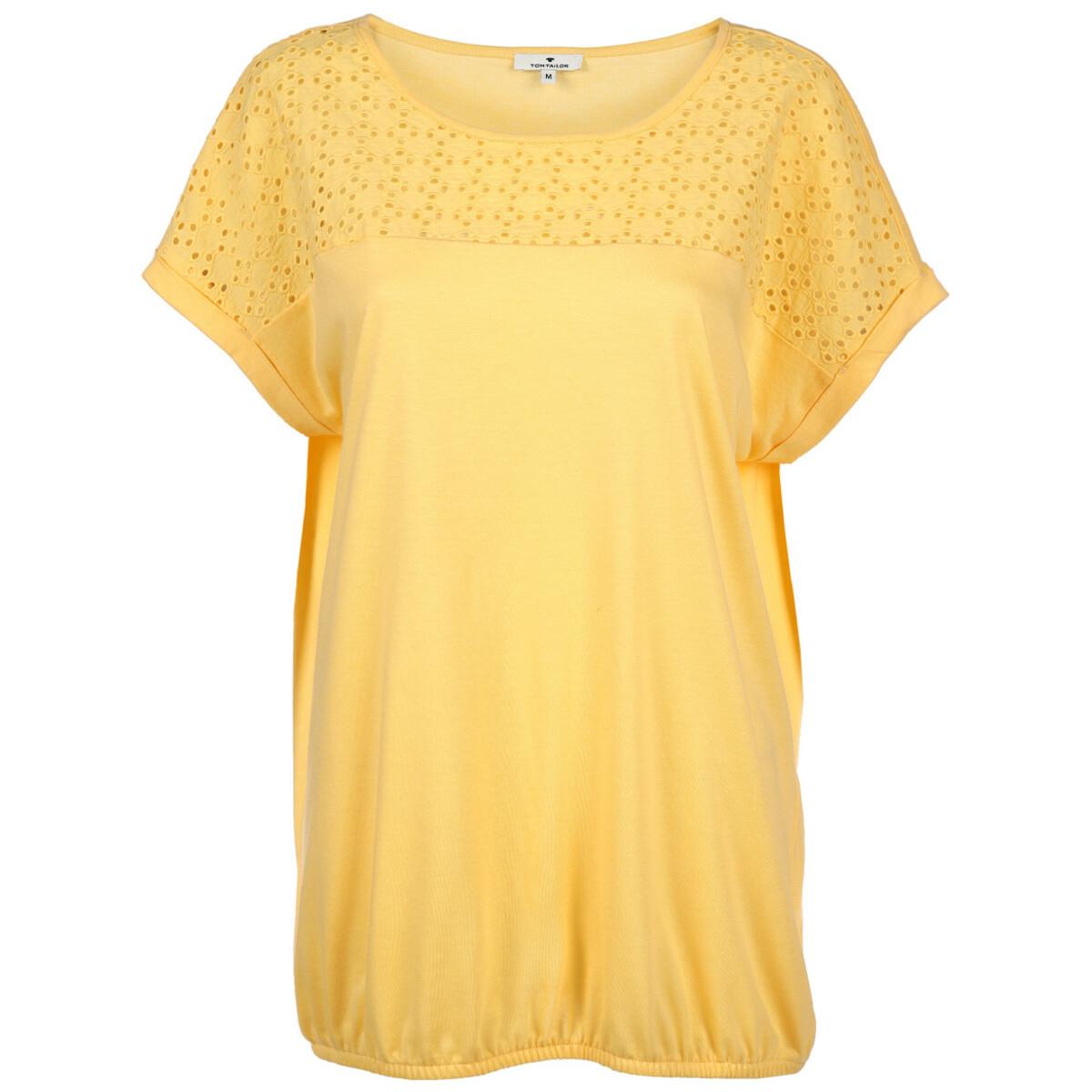Bild 1 von Damen Shirt mit Lochstickerei