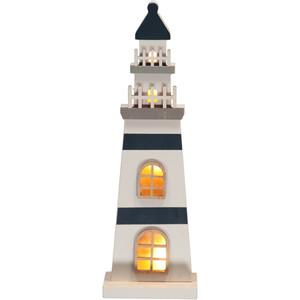 Leuchtturm mit LED 8,5x30,5 cm
