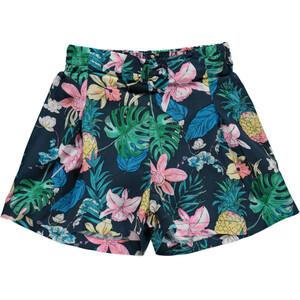 Mädchen Shorts mit Gummizug und Allover Print