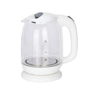 Tectro Glaswasserkocher WK 188 weiß 1,7 Liter