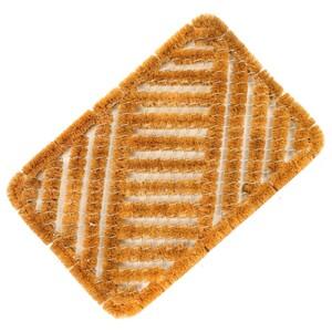 Fußmatte Kokos 40 x 60 cm mit Metallgitter für Innen und Außen
