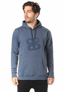 PLANET SPORTS Logo Icon - Kapuzenpullover für Herren - Blau