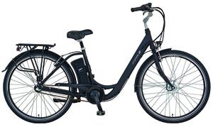 Prophete E-Bike Alu-City GENIESSER e9.3 | 28 Zoll | 250 W | SAMSUNG Side-Click Lithium-Ionen Akku 36 Volt | 11 Ah | schwarz | Damen | Rahmenhöhe 48 cm | Alu-V-Bremsen | Rücktrittbremse
