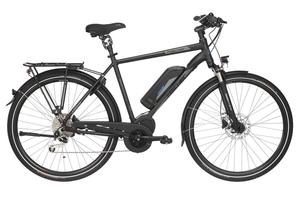 Fischer Trekking-Herren-E-Bike ETH 1861.1, 28 Zoll, schwarz matt, Rahmenhöhe: ca. 55cm