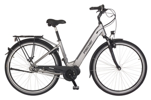 Fischer City-E-Bike CITA 4.0i, 26 Zoll, quarzgrau matt