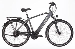 Fischer Trekking-Herren-E-Bike VIATOR 5.0i, 28 Zoll, schiefergrau matt