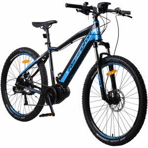 Remington MX Pro 650B 27,5 Zoll MTB E-Bike Mountainbike Pedelec Mittelmotor, Farbe:blau
