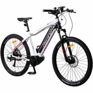 Remington MX Pro 650B 27,5 Zoll MTB E-Bike Mountainbike Pedelec Mittelmotor, Farbe:weiß