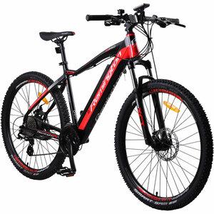 Remington MTB Pro 650B E-Mountainbike 27,5 Zoll E-Bike Hardtail Pedelec Fahrrad, Farbe:rot