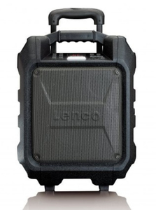 Lenco Tragbarer Lautsprecher PA-60, Bluetooth, FM Radio, USB, Farbe: Schwarz