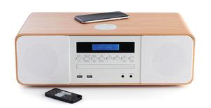 Thomson MIC201IBT, Heim-Audio-Mikrosystem, Weiß, 50 W, FM, Blau, 3,5 mm