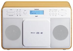 Lenco Radio DAR-040, DAB+, FM Radio, Bluetooth, CD-Player, USB, Eiche