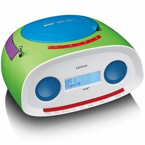 Lenco Portables Radio SCD-70, DAB+, CD-/MP3-Player, Farbe: Bunt