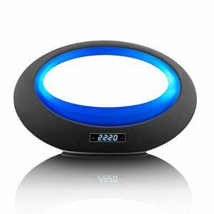 Lenco Tragbarer Bluetooth Stereo Lautsprecher BT-210, Farbwechsel, Farbe: Schwarz