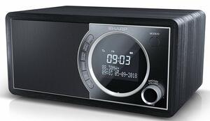 Sharp DR-450 Digital Radio, DAB / DAB+ / FM Radio / Bluetooth, 6 W in schwarz