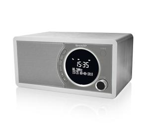 Sharp DR-450 Digital Radio, DAB / DAB+ / FM Radio / Bluetooth, 6 W in weiß