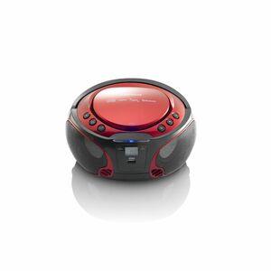 Lenco Tragbares Radio SCD-550, CD-Player, USB, Farbe: Rot/Schwarz