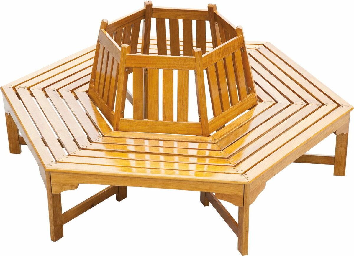 Bild 1 von Garden Pleasure Baumbank Berangan Garten Holz Bank Rundbank Sitzbank Parkbank