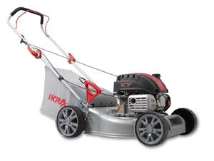 IKRA Benzinrasenmäher IBRM 40-Z130 (Motorleistung: 2,2 kW, Schnitthöhe: 25-75 mm, Schnittbreite: ca. 40,5 cm, Rasenflächen bis 900 m², Fangkorb: 40 l)