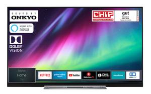 Toshiba 55U7863DA 140 cm (55 Zoll) Fernseher 4K Ultra HD, HDR Dolby Vision, Triple Tuner, Smart TV, Sound von Onkyo, Alexa Ready Funktion, Energieklasse A+