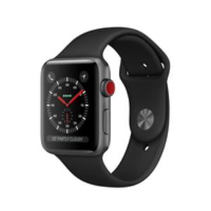 Apple Watch Series 3 GPS Cell 38mm Grey Alu Black Band
