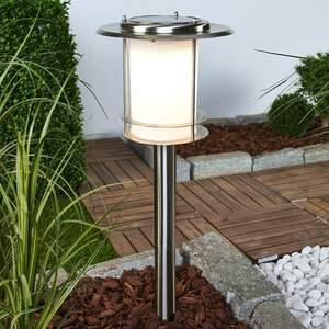 LED Solarleuchte Tony Erdspieß Solarlampe Lampenwelt Edelstahl Gartenleuchte
