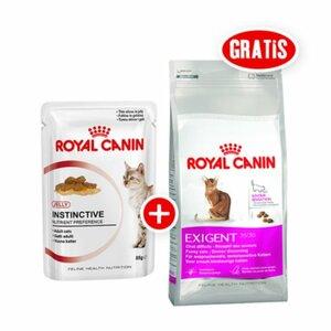 Royal Canin Instinctive in Gelee 12x85g + gratis Royal Canin Exigent 35/30 Savour Sensation 400g