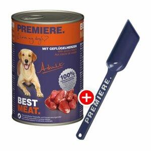 Premiere BEST MEAT Adult 12x400g + gratis Futterlöffel
