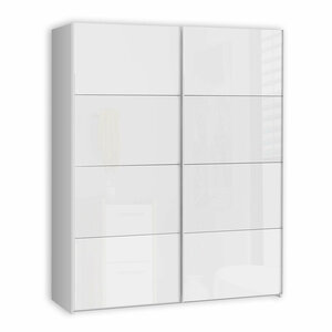 Schwebetürenschrank - weiß - 170 cm breit - 1023000800
