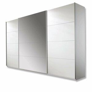 Schwebetürenschrank - alpinweiß - 315 cm breit - 0194000400
