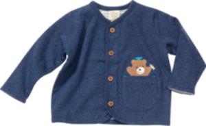 ALANA Baby-Jacke, Gr. 74, in Bio-Baumwolle, blau, für Mädchen und Jungen