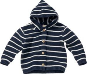 ALANA Baby-Strickjacke, Gr. 62, in Bio-Baumwolle, marine, weiß, für Mädchen und Jungen