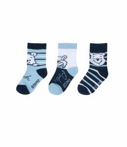Disney Winnie the Pooh - Baby Socken, 3er Pack, Jungen - blau/weiß, Gr ...