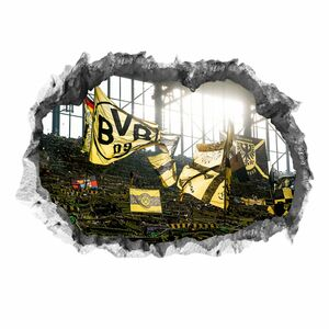 BVB Wandtattoo 3D Fankurve mehrfarbig